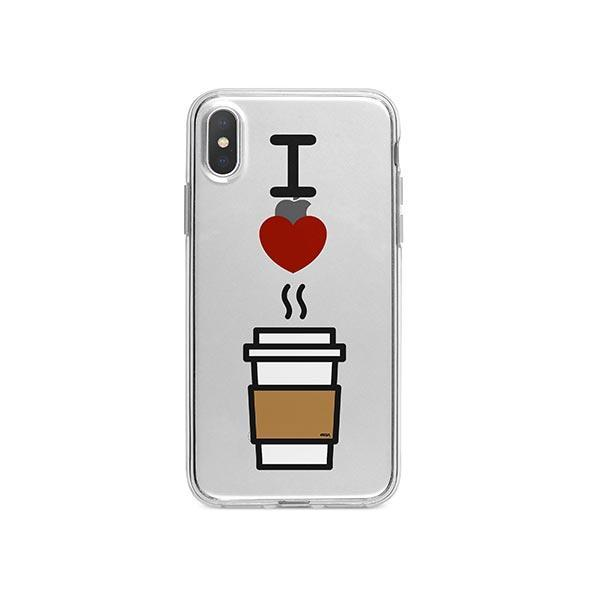 I Love Coffee iPhone X Case Clear
