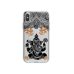 Lotus Ganapati Ganesh iPhone X Case Clear