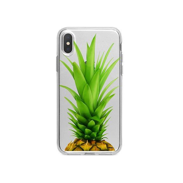 Pineapple Head iPhone X Case Clear