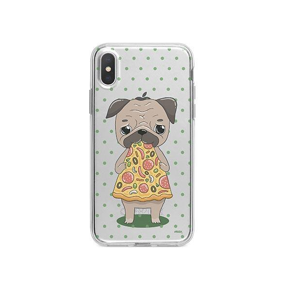 Pizza Pug iPhone X Case Clear