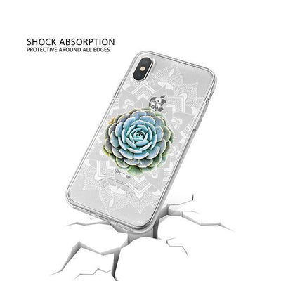 Succulent Mandala iPhone X Case Clear