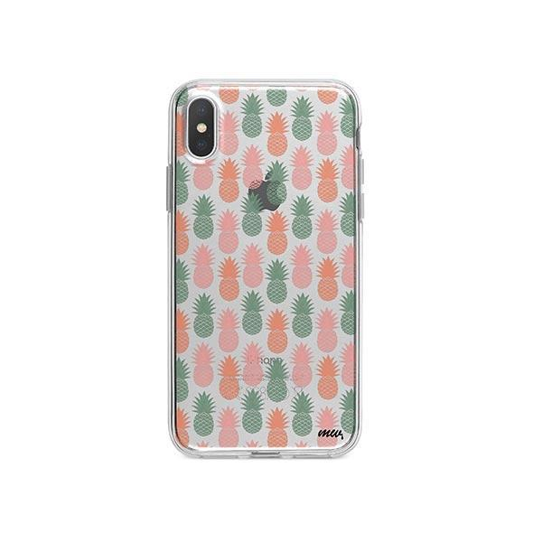 Vintage Pineapple iPhone X Case Clear