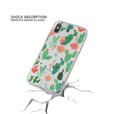 Watercolor Cactus iPhone X Case Clear