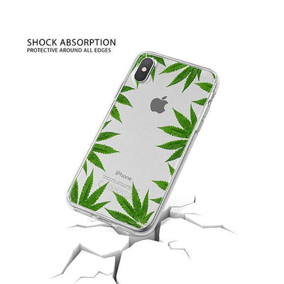 Weed Frame iPhone X Case Clear