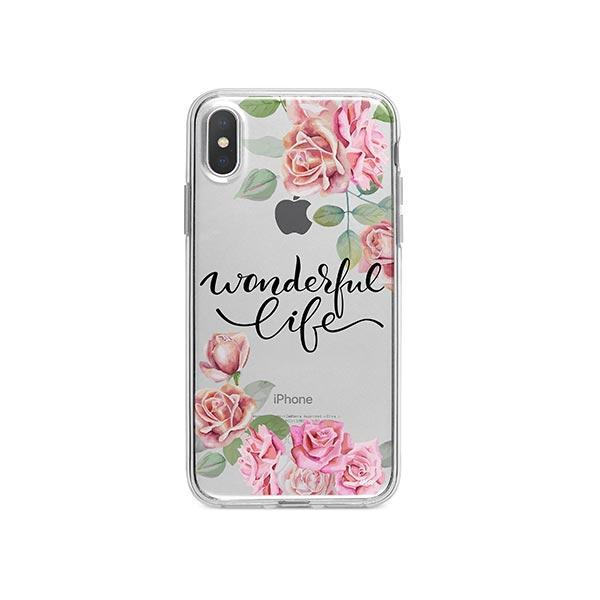 Wonderful Life iPhone X Case Clear