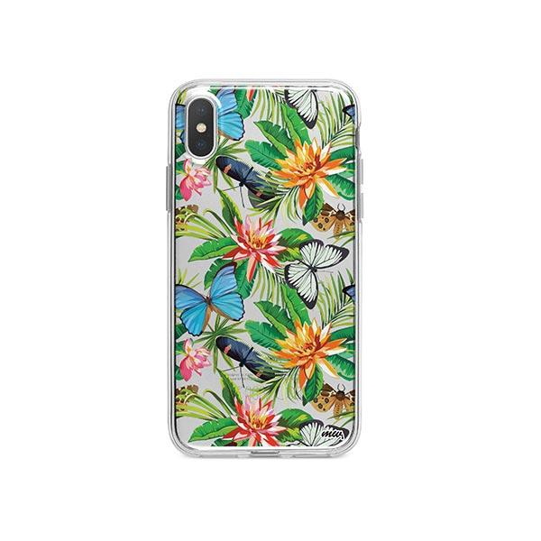 best service 70eb3 cdd85 Tropical Butterfly iPhone X Case Clear