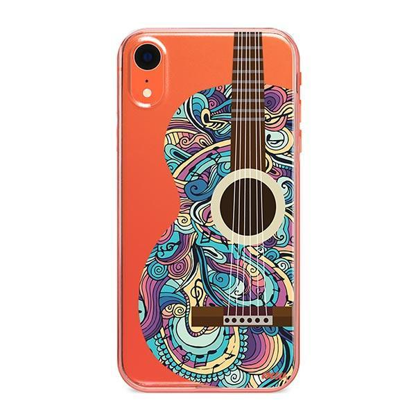 Henna Abstract Guitar iPhone XR Case Clear