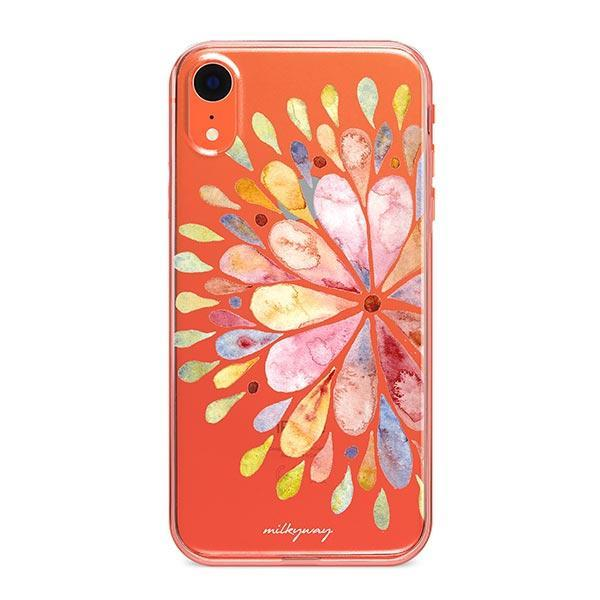 Blissful Mandala iPhone XR Case Clear