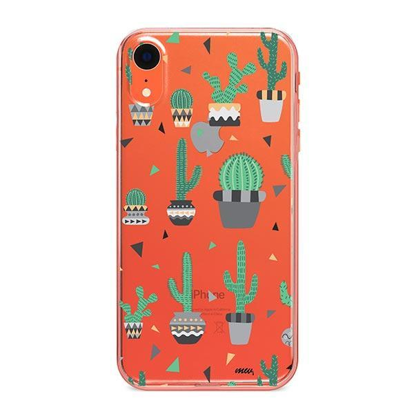 Cactus Party iPhone XR Case Clear