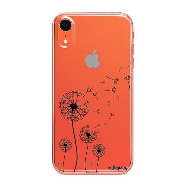 Dandelion iPhone XR Case Clear