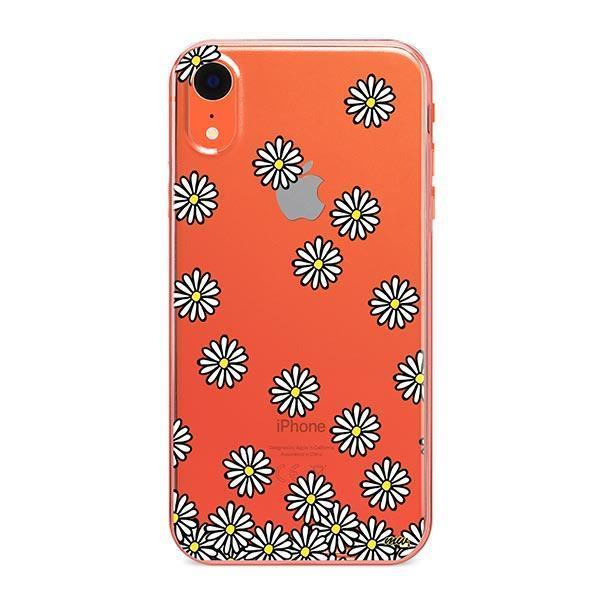 Falling Daisies iPhone XR Case Clear