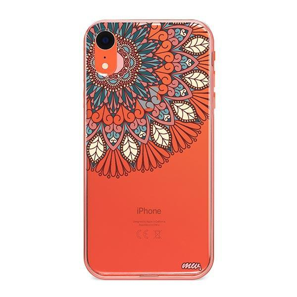 Henna Floral Mandala iPhone XR Case Clear