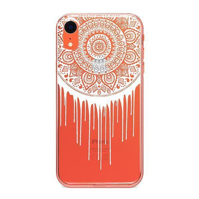 Henna Dripping Mandala Dreamcatcher - iPhone Clear Case