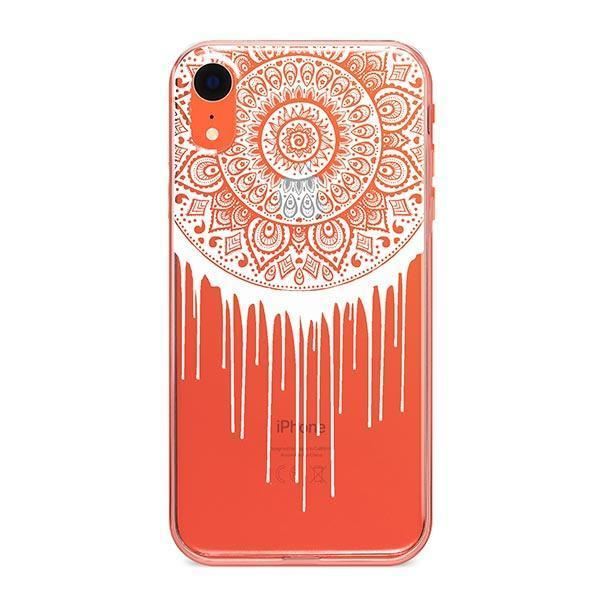 Henna Dripping Mandala Dreamcatcher iPhone XR Case Clear