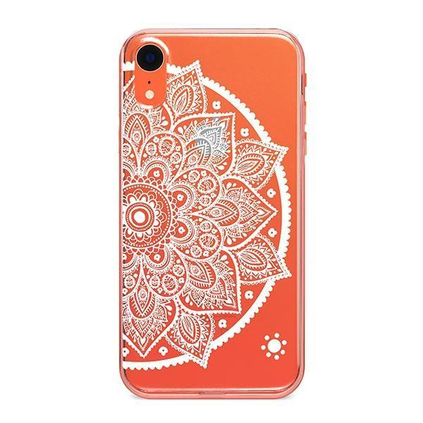 Henna Lotus Mandala iPhone XR Case Clear