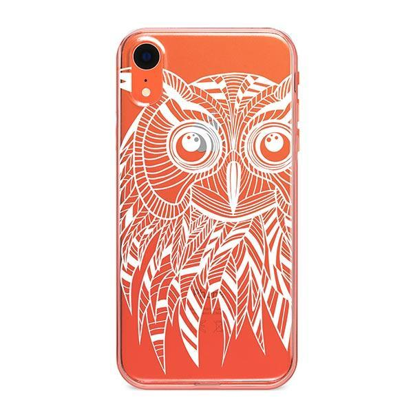 Henna Ethnic Owl iPhone XR Case Clear