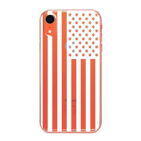 USA Flag iPhone XR Case Clear