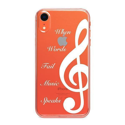 When Words Fail Music Speaks - iPhone Clear Case