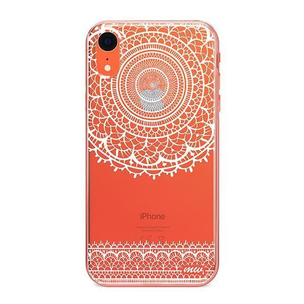 Mandala Sun Lace iPhone XR Case Clear