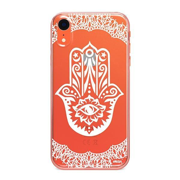 Henna Hamsa Hand of Fatima iPhone XR Case Clear