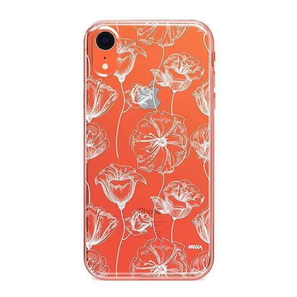 Tulip Garden iPhone XR Case Clear