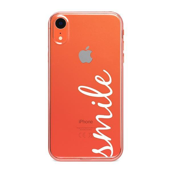 Smile Quote iPhone XR Case Clear