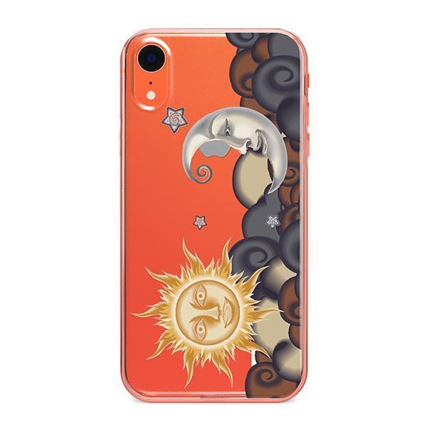 new concept cfec0 01a26 Henna Sun and Moon iPhone XR Case Clear