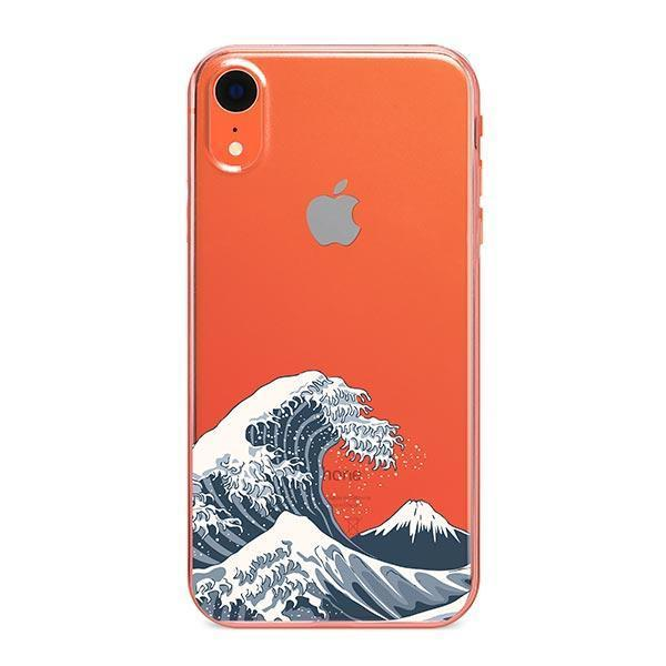 Japanese Wave iPhone XR Case Clear