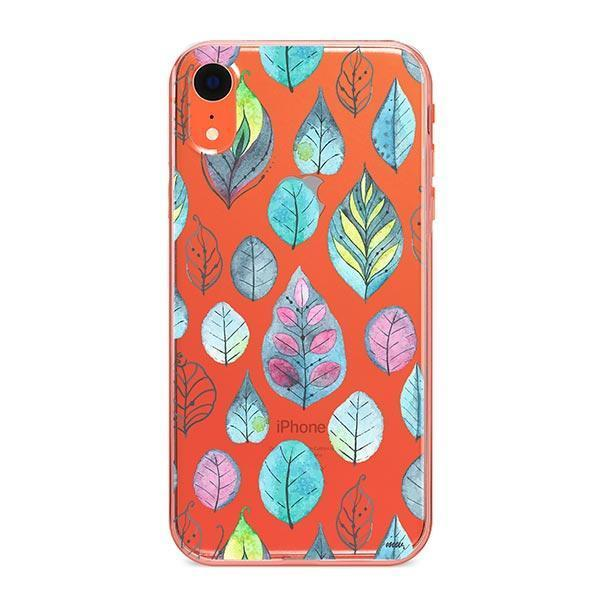 Leaves iPhone XR Case Clear