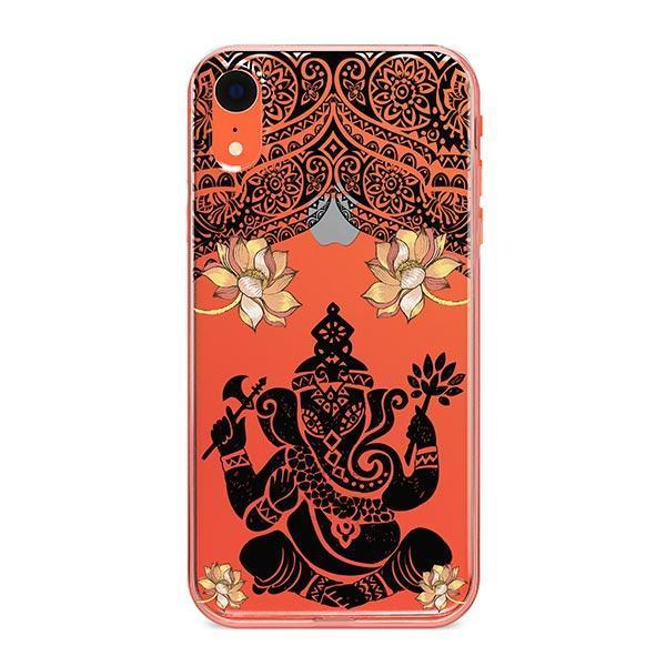 Lotus Ganapati Ganesh iPhone XR Case Clear