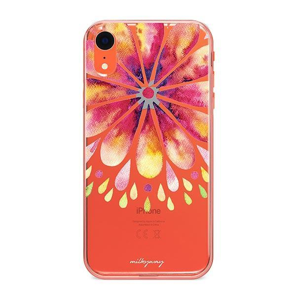 Mandala Drops iPhone XR Case Clear