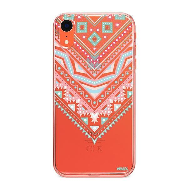 Pastel Aztec Triangle iPhone XR Case Clear