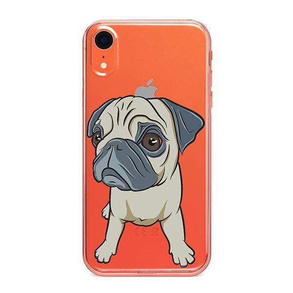 Full Pug - iPhone XR Clear Case