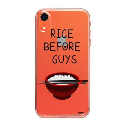 Rice Before Guys - Clear TPU - iPhone Case