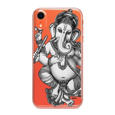 Sketch Ganesh - Clear TPU - iPhone Case