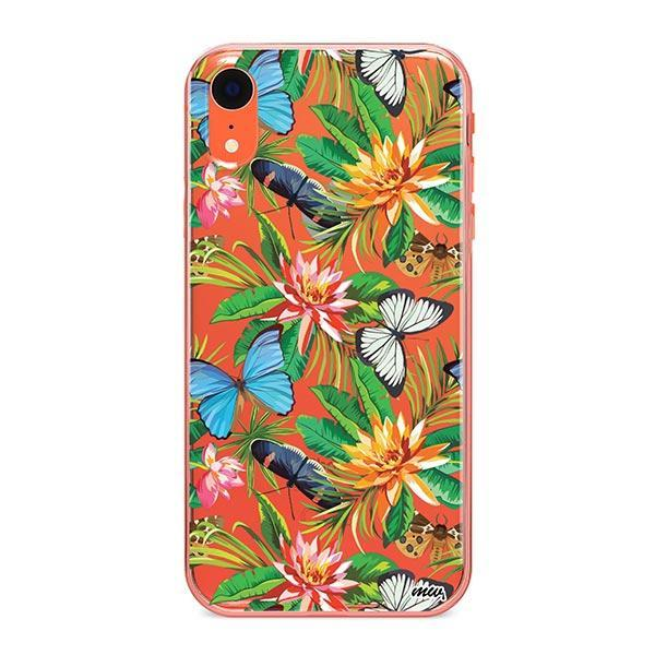 Tropical Butterfly iPhone XR Case Clear