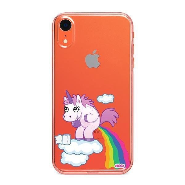 official photos 8e6ed c4512 Pooping Unicorn iPhone XR Case Clear - Milkyway