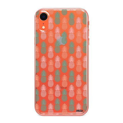 Vintage Pineapple - Clear TPU - iPhone Case