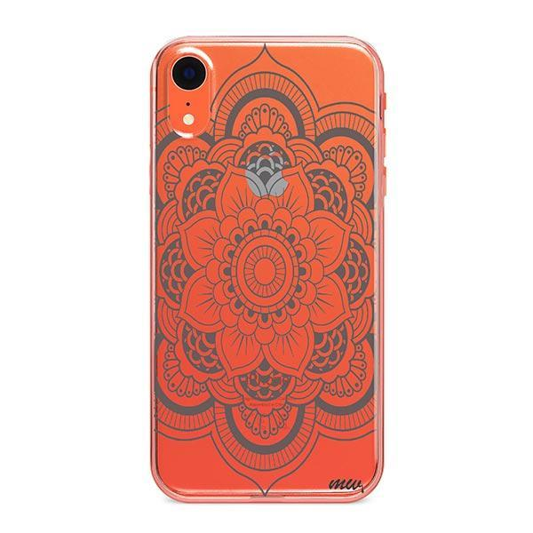 Henna Full Mandala iPhone XR Case Clear