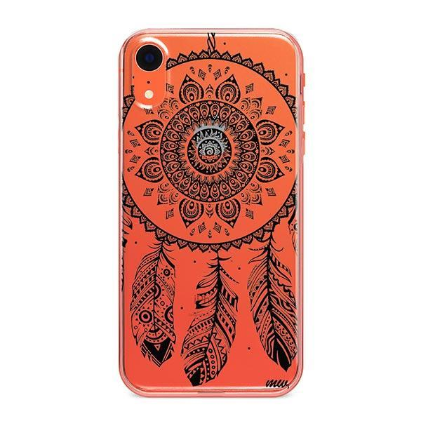 Black Henna Ojibwe iPhone XR Case Clear