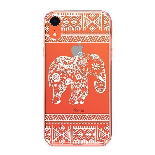Henna Aztec Sundala Elephant iPhone XR Case Clear