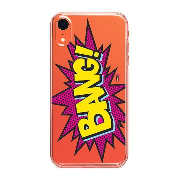 Bang! iPhone XR Case Clear