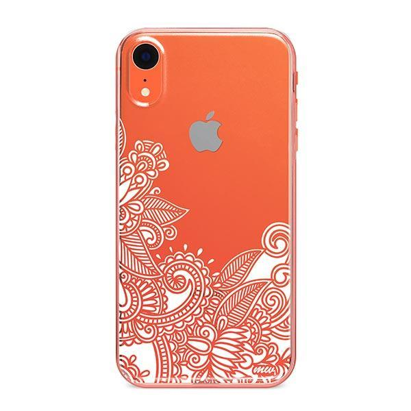 Hennan Bottom Floral Paisley iPhone XR Case Clear