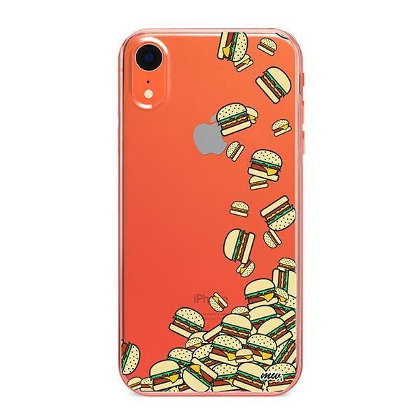 Burger Stuck iPhone XR Case Clear