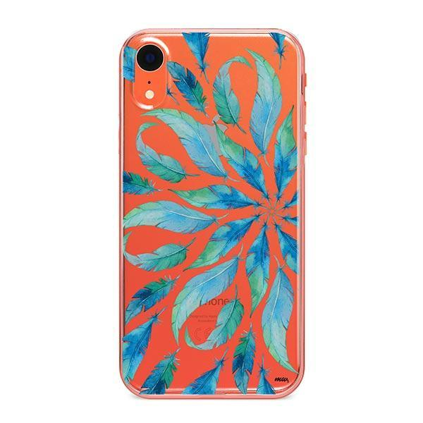 Burst of Feathers iPhone XR Case Clear