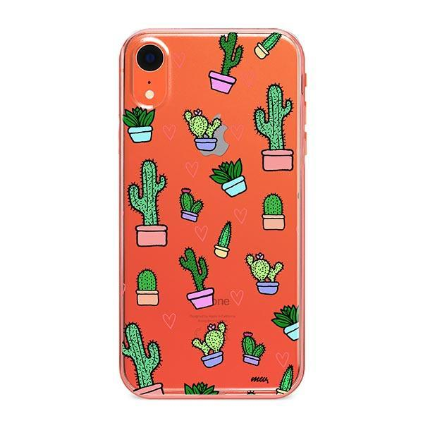 Cactus Love iPhone XR Case Clear