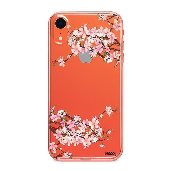 Cherry Blossom iPhone XR Case Clear