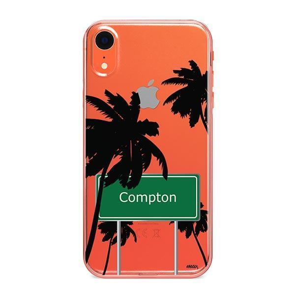 Compton iPhone XR Case Clear