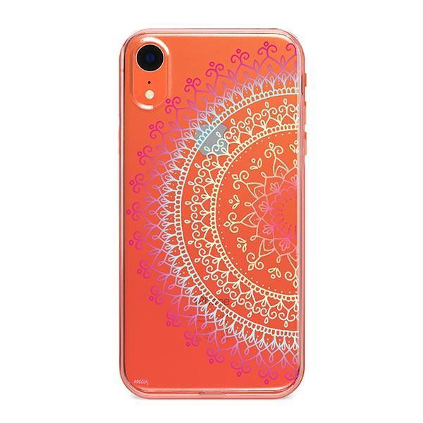 Cotton Candy Mandala iPhone XR Case Clear