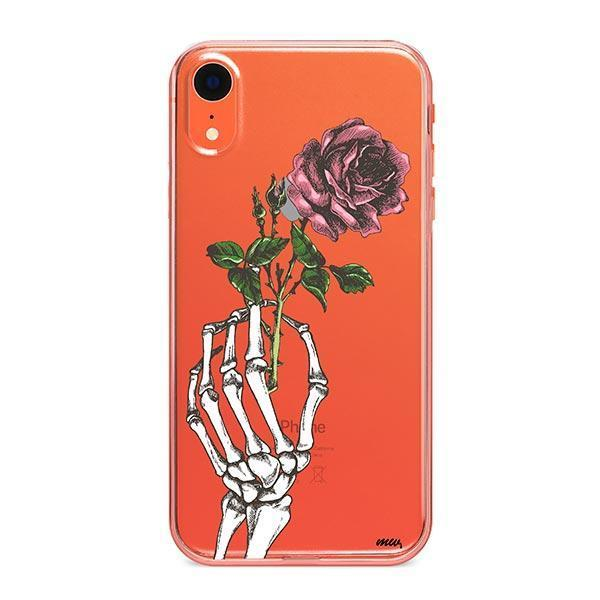 Crane Rose iPhone XR Case Clear